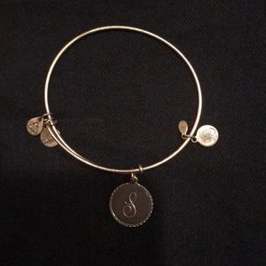 "Gold Alex and Ani ""S"" Initial"